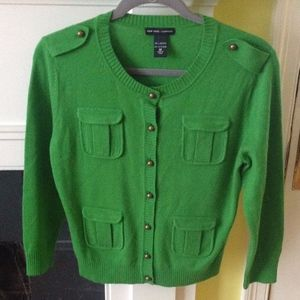 NY & Co Green Military Cardigan Sweater - Size M